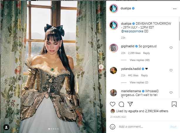 Gigi Hadid, Yolanda Hadid react as Dua Lipa shares sneak peak of  Demeanour video
