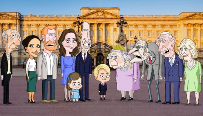 The Prince cartoon pokes fun at Queen, Kate Middleton, William, Harry and Meghan