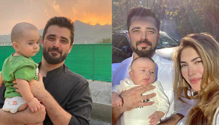Hamza Ali Abbasi celebrates first birthday of son with sweet wishes