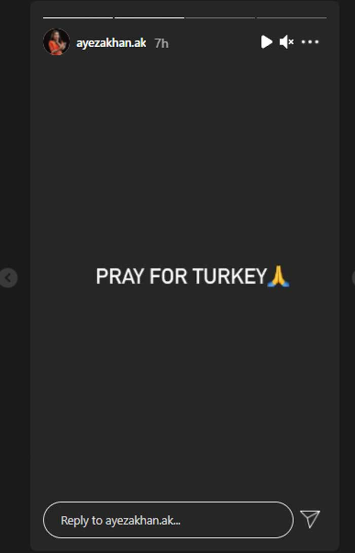 Ayeza Khan urges fans to pray for Turkey after wildfires