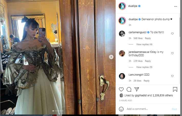 Dua Lipa shares Demeanor photo dump with fans