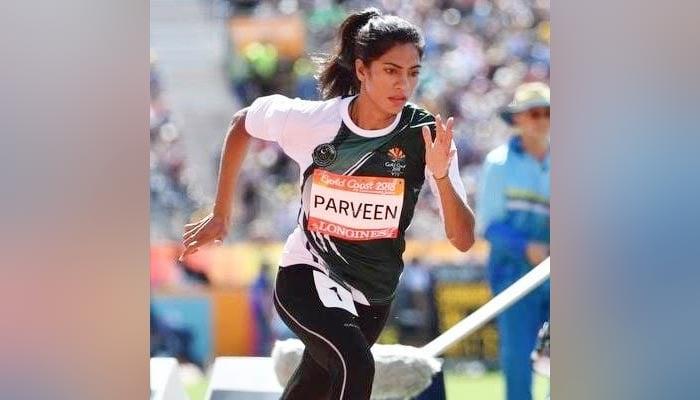 Pakistan's top female sprinter Najma Parveen. — Twitter/File