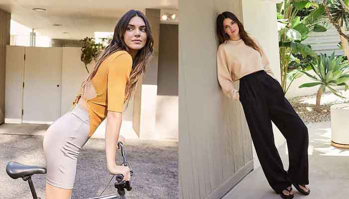 Kendall Jenner shows off her curves in mini outfit