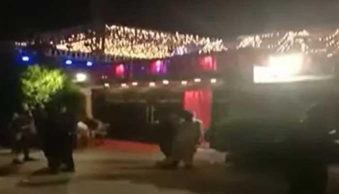 Wedding function organised at MNA Aslam Khans residence in DHA Karachi.