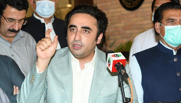 PPP Chairman Bilawal Bhutto Zardari addressing a press conference at Bilawal House in Islamabad, on June 29, 2021. — Online/File