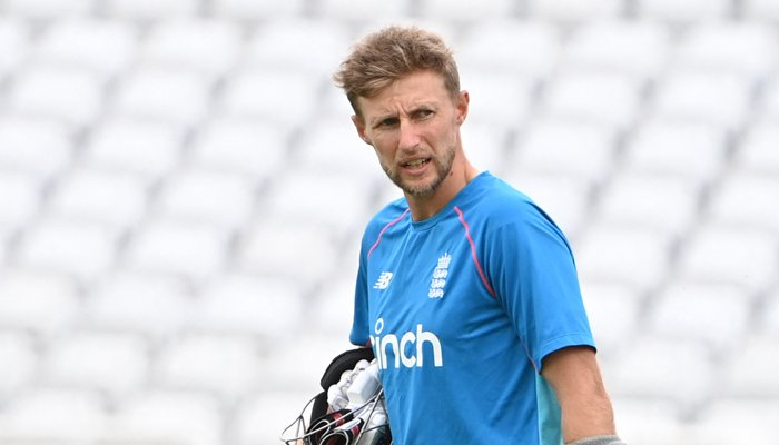 England´s Joe Root prepares to bat during a training session at Trent Bridge Cricket Ground in Nottingham, central England on August 2, 2021 ahead of the first Test match between England and India. — AFP
