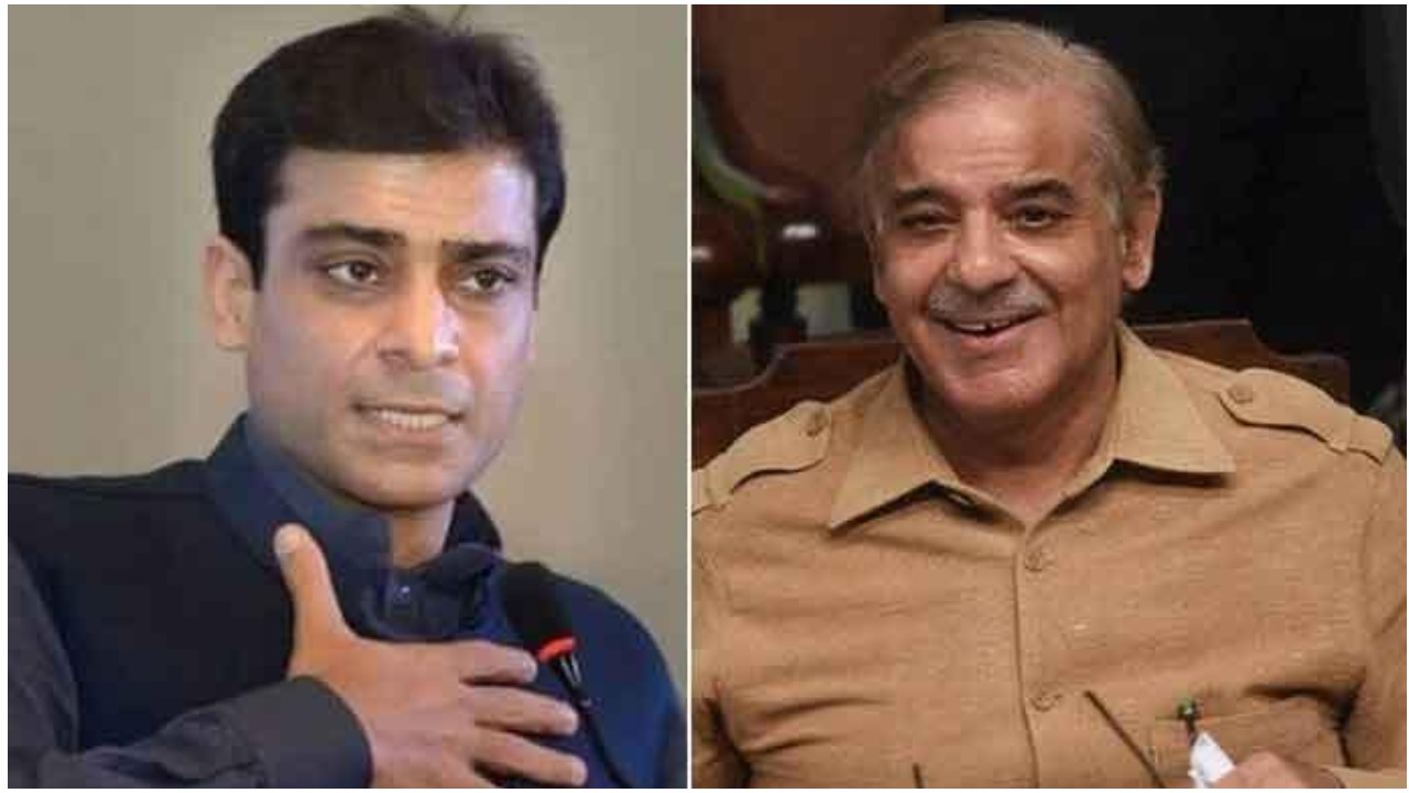 Punjab Assembly Opposition Leader Hamza Shahbaz(l) and PML-N President Shehbaz Sharif(r). File photo