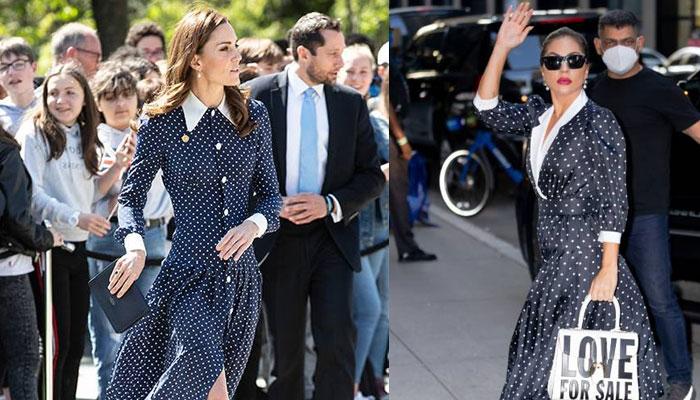 Lady Gaga copies Kate Middletons style she goes full Hollywood glam