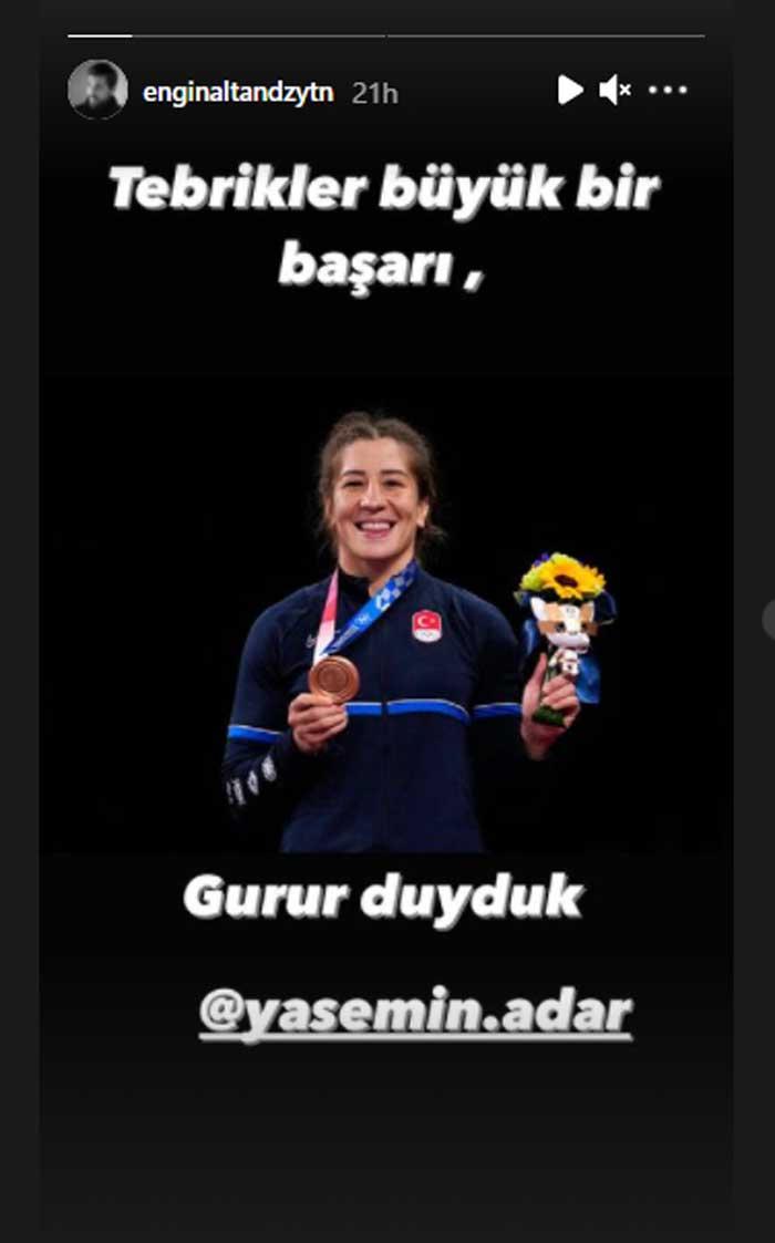 'Ertugrul' star Engin Altan Duzyatan congratulates Turkish athletes
