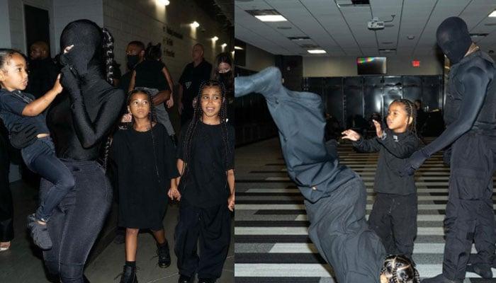 Kim Kardashian, kids support Kanye Wests Donda event with Balenciaga outfits