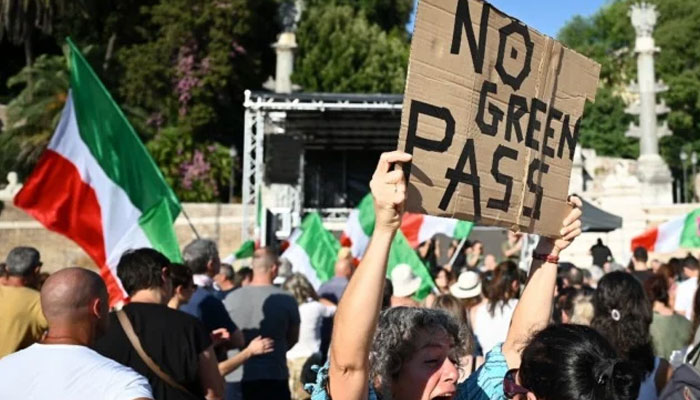 Obligatory coronavirus certificate sparks protests in Italy