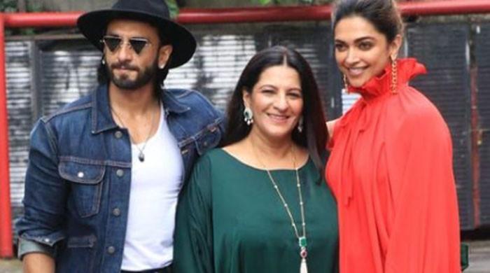 Ranveer Singh takes favorite ladies Deepika Padukone, mother Anju for lunch date: See Photos