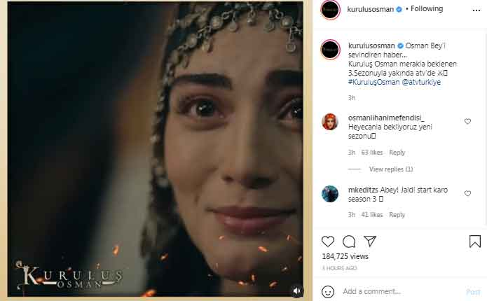 Turkish TV teases release date for Kurulus:Osman Season 3