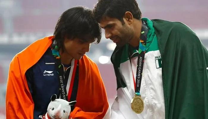 File photo of Arshad Nadeem and Neeraj Chopra