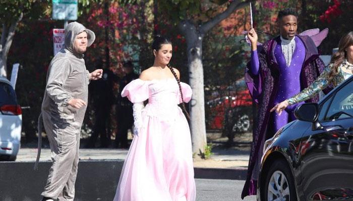 Camila Cabello, James Corden stage flash mob to block LA traffic in 'Cinderella' attire