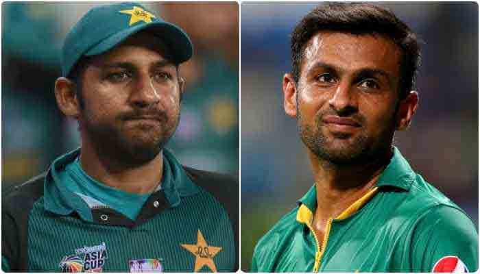 Sarfaraz Ahmed and Shoaib Malik.