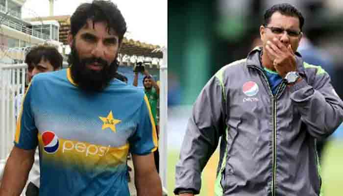 Misbah-ul-Haq and Waqar Younis. File photo