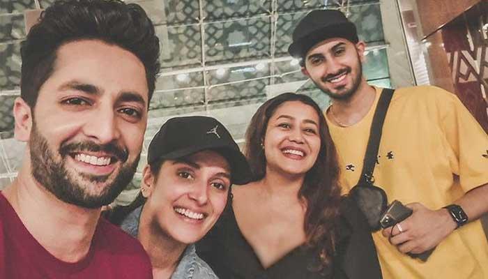 Ayeza Khan, Danish Taimoor meet Neha Kakkar in Dubai