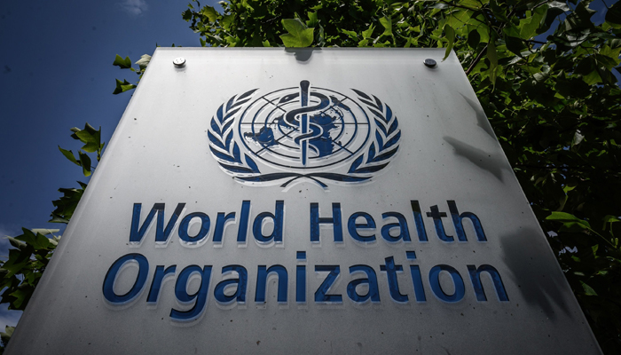 A sign of the World Health Organization (WHO) at their headquarters in Geneva, amidst the COVID-19 outbreak, caused by the novel coronavirus, July 3, 2020. — AFP/File