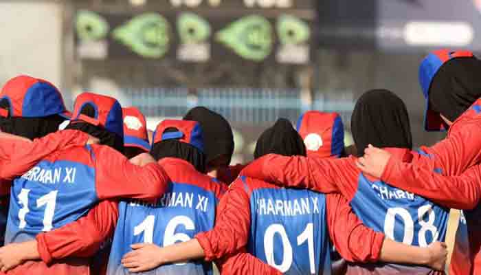 File photo of Afghan women cricketers.