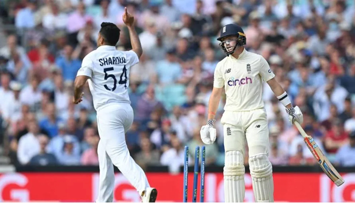 A picture from the third Test between England and India. — AFP