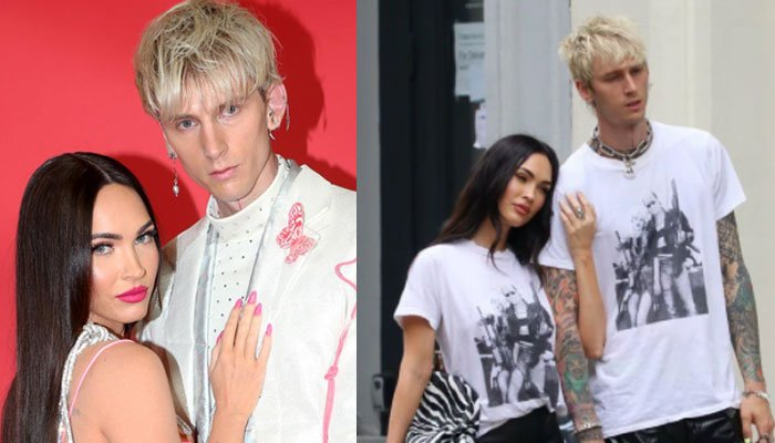 Megan Fox and Machine Gun Kelly amaze onlookers in matching outfits during NYC outing