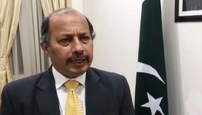 Pakistans Ambassador to Afghanistan Mansoor Ahmad Khan speaks to Geo News. — Geo News/File