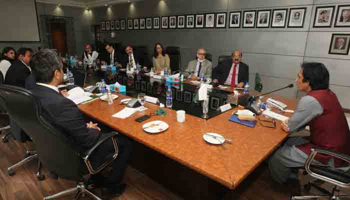 Newly elected PCB Chairman Ramiz Raja chairs meeting of Board of Governors.