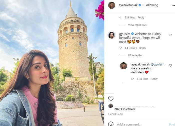 'Ertugrul' star warmly welcomes Ayeza Khan in Turkey