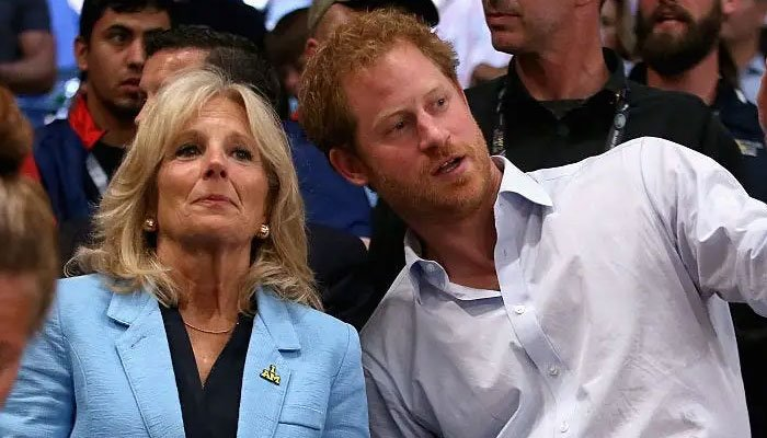 Jill Biden paid tribute to Prince Harry, recalling having attended the first Invictus Games at his side