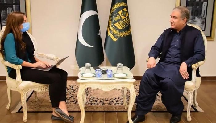 Foreign Minister Shah Mahmood Qureshi in an interview with The Independent. — Radio Pakistan
