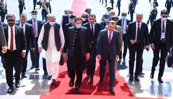 Prime Minister Imran Khan arrives in Dushanbe on a two-day visit.