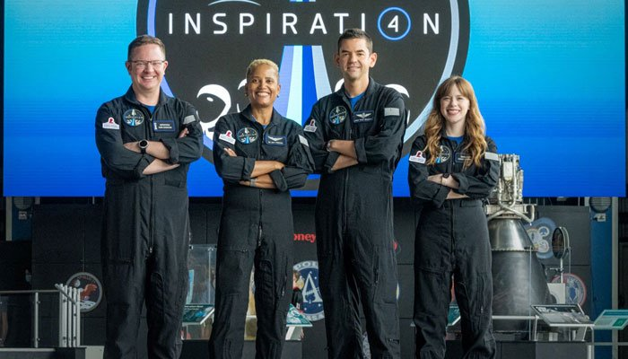 The four tourists on board the SpaceX capsule are set to return to the Earth today. AFP
