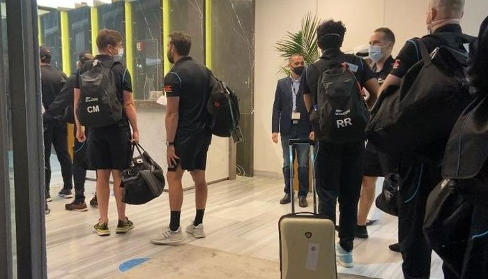 Players of the New Zealand team arrived in Dubai. Photo credit: NZ Cricket