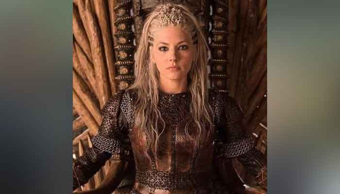 Katheryn Winnick aka Viking Lagertha attending Emmy Awards ceremony