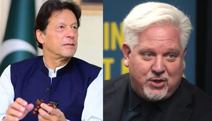 Prime Minister Imran Khan and US political commentator Glenn Beck.