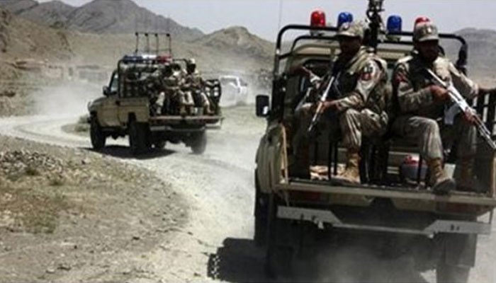 Security forces patrolling in a tribal area. Photo/ file