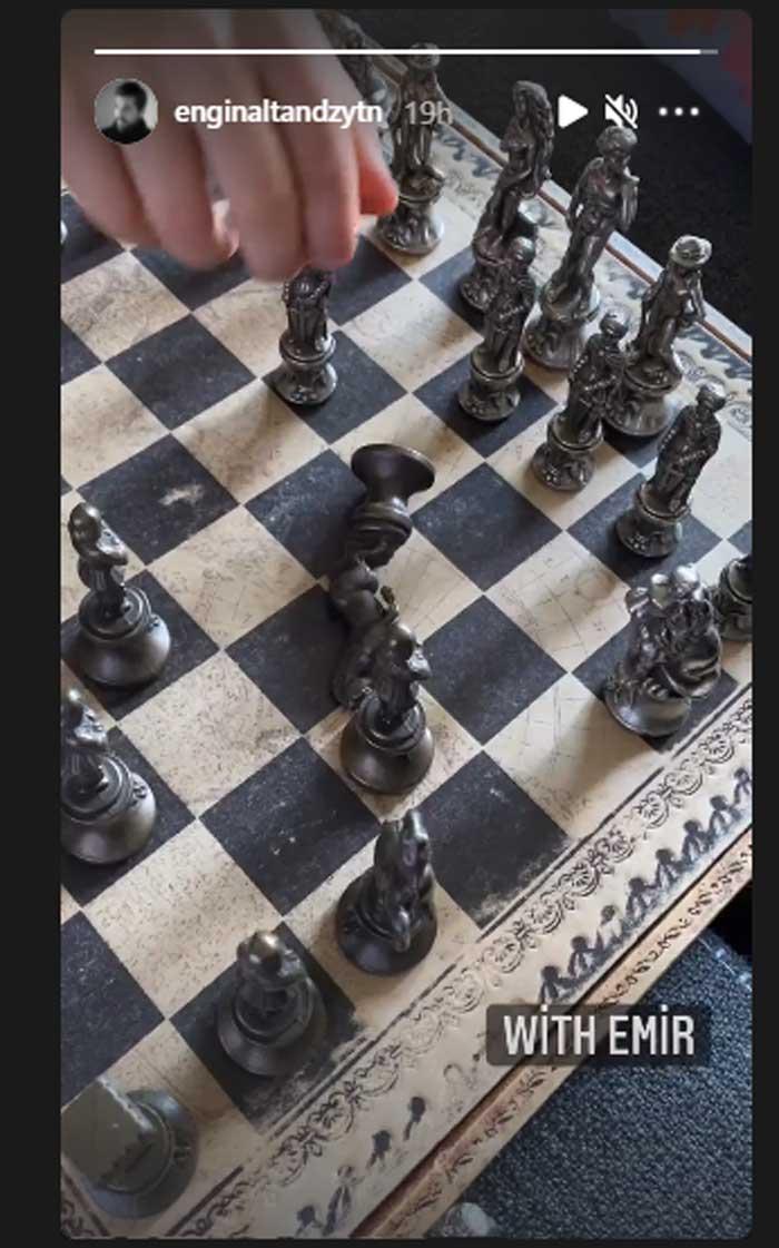 'Ertugrul' star Engin Altan Duzyatan plays chess with son Emir: See photo