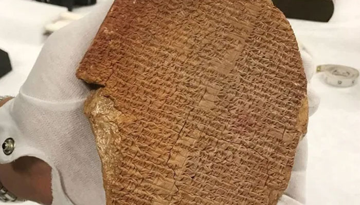 35,000-year-old Gilgamesh tablet will be sent back to Iraq this week. Courtesy: ICE