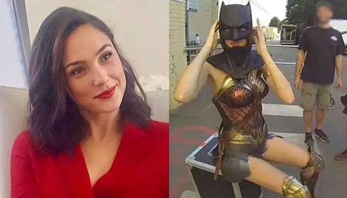 Gal Gadot wears Ben Afflecks Batman mask to pay homage to Caped Crusader