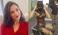 Gal Gadot wears Ben Affleck's Batman mask to pay homage to Caped Crusader