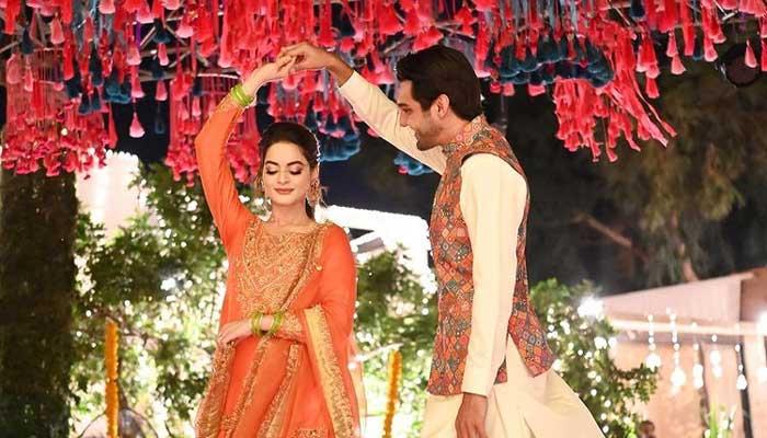 Minal Khan celebrates first birthday of husband Ahsan Mohsin Ikram after wedding