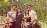 Aiman, Minal Khan spotted all smiles with their husbands in new snap