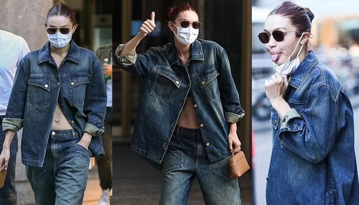 Gigi Hadid receives love during a walk at Milan Fashion Week