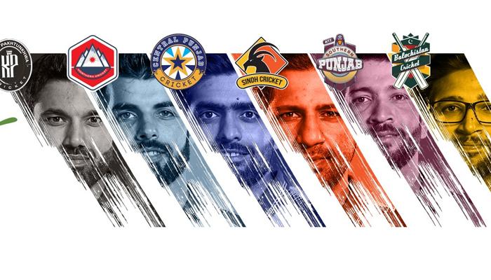 (Left-right) Mohammad Rizwan, Shadab Khan, Babar Azam, Sarfaraz Ahmed, Sohaib Maqsood andImam-ul-Haq are the captain for the six teams participating in the National T20 Cup. Twitter/@PCB Media