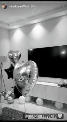 Minal Khan surprises Ahsan Mohsin Ikram with balloon-filled room