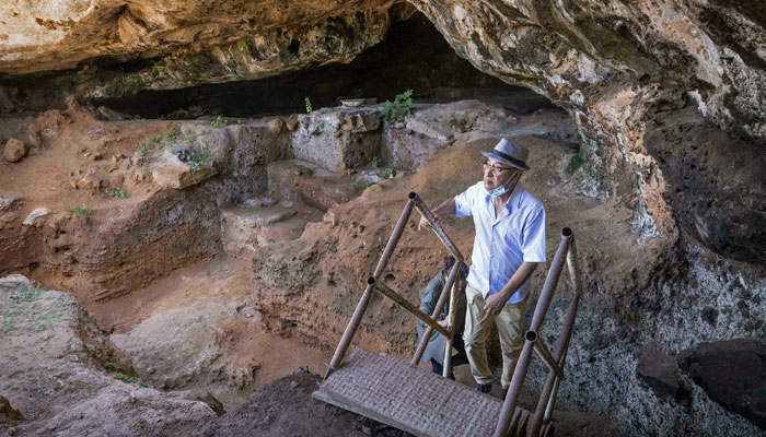 Archaeologists found the oldest bone tools used to make clothing in Moroccos Contrebandiers (Smugglers) Cave. AFP