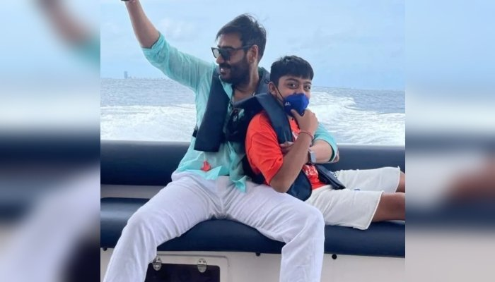 Ajay Devgn shares defining moment with his son Yug from their Maldives trip