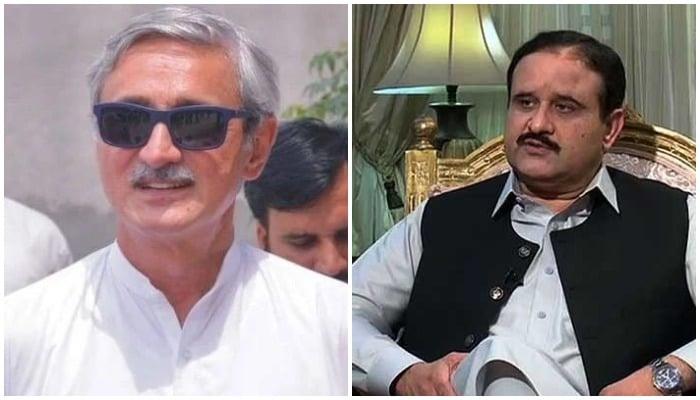 PTI leader Jahangir Khan Tareen (L) and Punjab Chief Minister Usman Buzdar (R). Photos: APP
