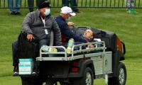 'Harry Potter' actor Tom Felton carted off the course as he collapses during celebrity matches